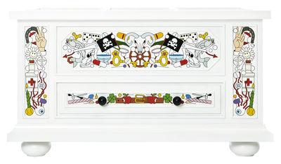 Möbel - Aufbewahrungsmöbel - Altdeutsche Kiste / Handbemalt - Moooi - Truhe - Weiß und vielfarbig - Pin massif