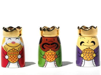 Weihnachten - Festtafel - Re Magi Krippenfigur Set aus 3 Figuren - A di Alessi - Mehrfarbig - Porzellan