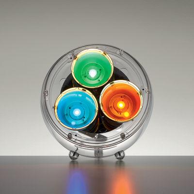 Luminaire - Lampadaires - Lampe à poser Yang LED / Variations de lumière naturelle - Bluetooth - Artemide - Transparent - Méthacrylate, Polycarbonate