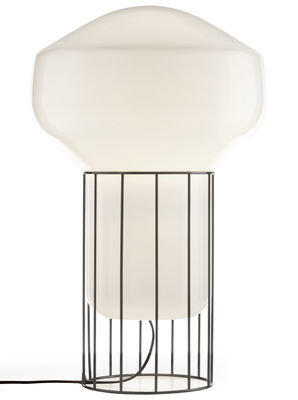 Lampe Aérostat Media / H 53 cm - Fabbian blanc,noir en verre