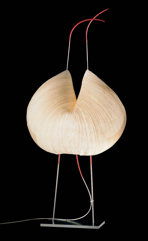 Luminaire - Lampadaires - Lampe de sol The MaMo Nouchies - Poul Poul - Ingo Maurer - Papier nature - Acier inoxydable, Papier