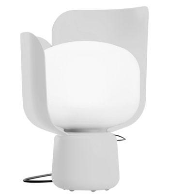 Lampe de table Blom / H 24 cm - Fontana Arte blanc en métal/matière plastique