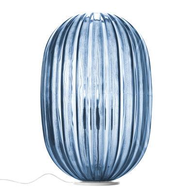 Lampe de table Plass / Ø 34 x H 51 cm - Foscarini bleu en matière plastique