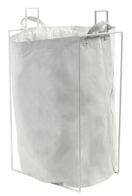 Accessories - Bathroom Accessories - Laundryholder Laundry basket - Removable bag by Serax - White - Fabric, Metal