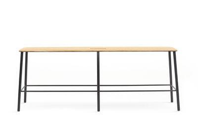 Arredamento - Panchine - Panchina Adam - / L 120 cm di Frama  - Rovere & nero - Acciaio laccato epossidico, Rovere oliato