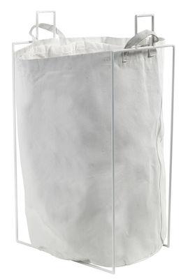 Accessoires - Accessoires salle de bains - Panier à linge Laundryholder / Sac amovible - Serax - Blanc - Métal, Tissu