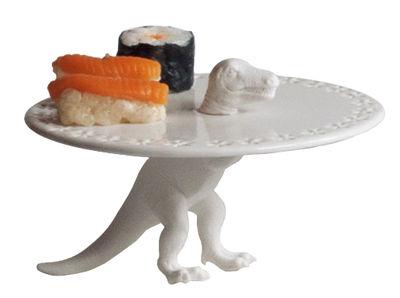 Plateau à gâteau Saurria Trex / Ø 18,5 cm - Seletti blanc en céramique
