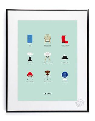Decoration - Home Accessories - Le Duo - Design Poster - 40 x 50 cm by Image Republic - Design - Paper