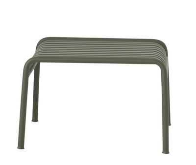 Furniture - Poufs & Floor Cushions - Palissade Pouf - Footrest  - R & E Bouroullec by Hay - Olive green - Electro galvanized steel, Peinture époxy