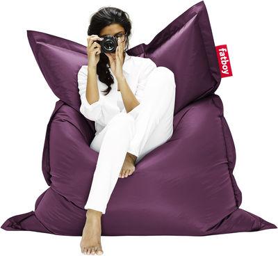Pouf The Original - Fatboy Larg 140 x L 180 cm violet foncé en tissu