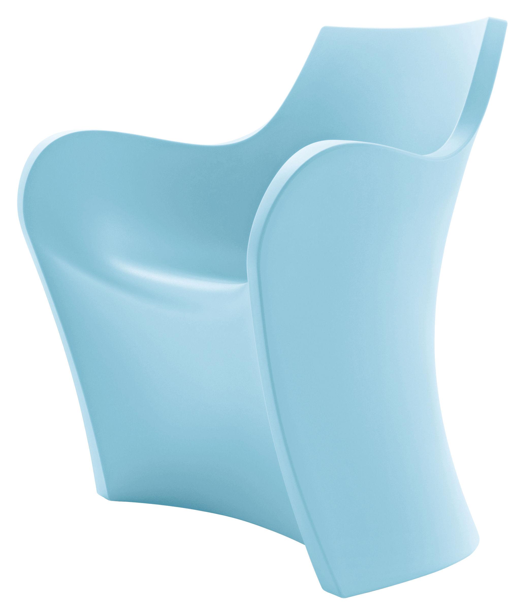 Outdoor - Stühle - Woopy Sessel / Kunststoff - B-LINE - Topas-Blau - rotationsgeformtes Polyäthylen