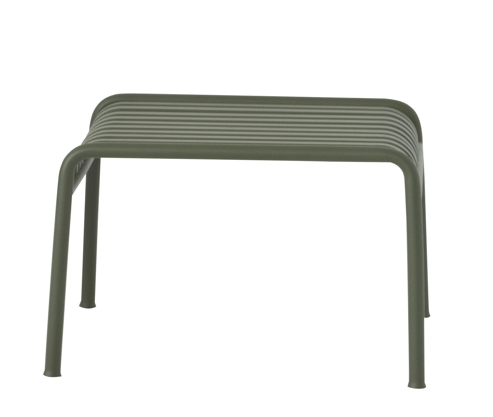 Möbel - Sitzkissen - Palissade Sitzkissen / Fußablage - R & E Bouroullec - Hay - Olivgrün - Galvanisch verzinkten Stahl, Peinture époxy