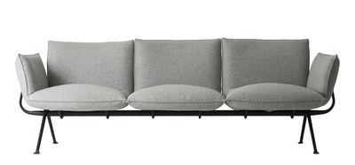 Officina Sofa 3-Sitzer / Stoff - L 213 cm - Magis - Schwarz,Hellgrau
