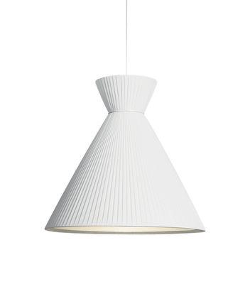Illuminazione - Lampadari - Sospensione Mandarina - / Tessuto plissettato - Ø 43 x H 43 cm di Carpyen - Blanc - Tessuto poliestere