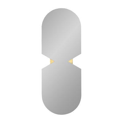 Interni - Specchi - Specchio murale Verto - / 120 x 44 cm di AYTM - Iridescent / Or - MDF, Rame, Vetro