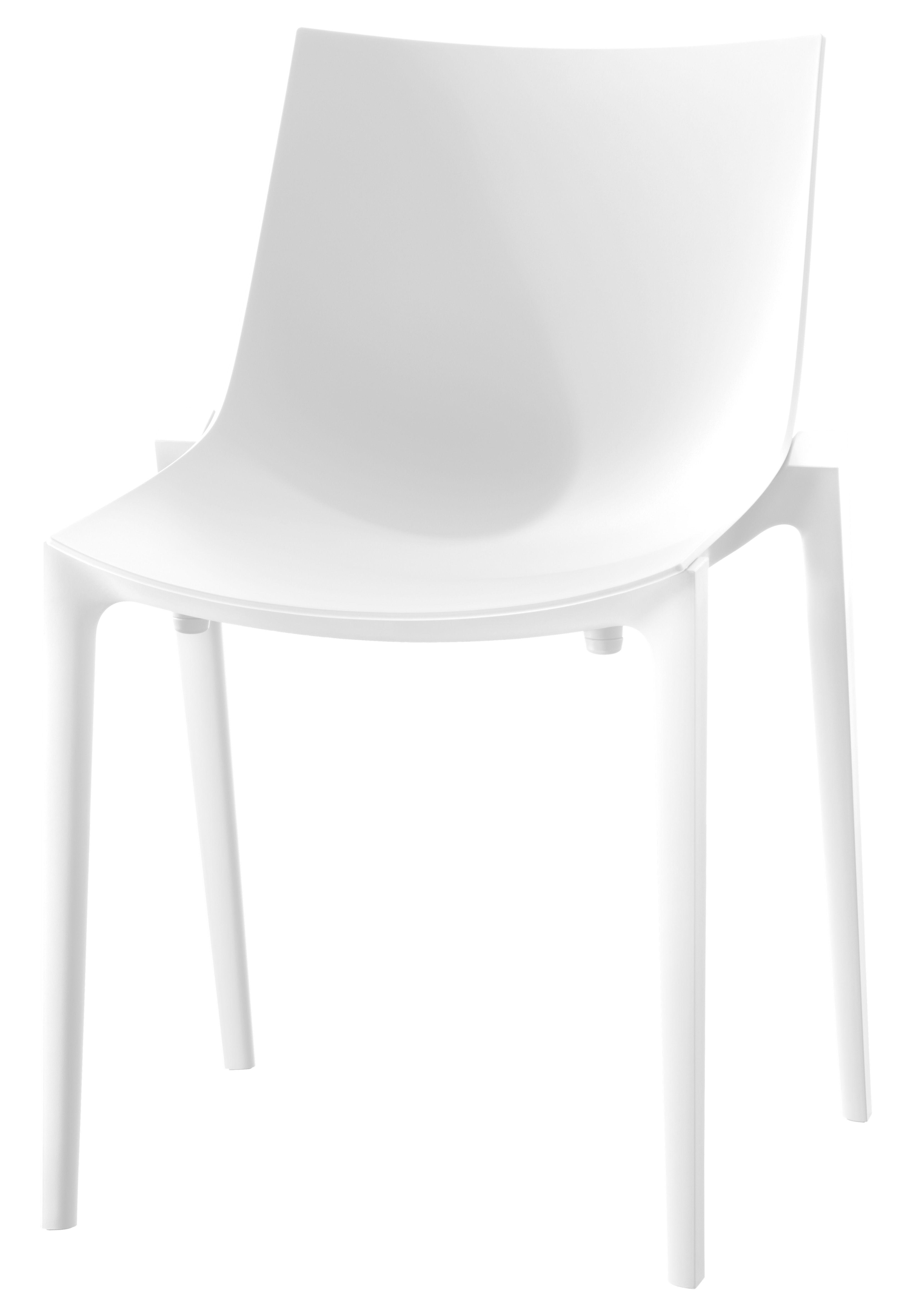 Möbel - Stühle  - Zartan Basic Stapelbarer Stuhl / Polypropylen - Magis - Weiß - Glasfaser, Polypropylen