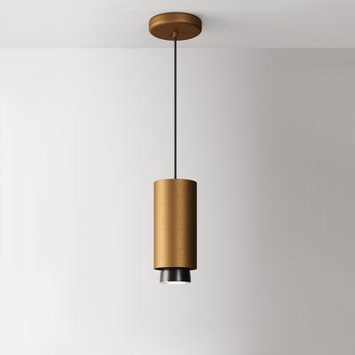 Luminaire - Suspensions - Suspension Claque LED / Ø 10 x H 23 cm - Fabbian - Bronze - Aluminium peint