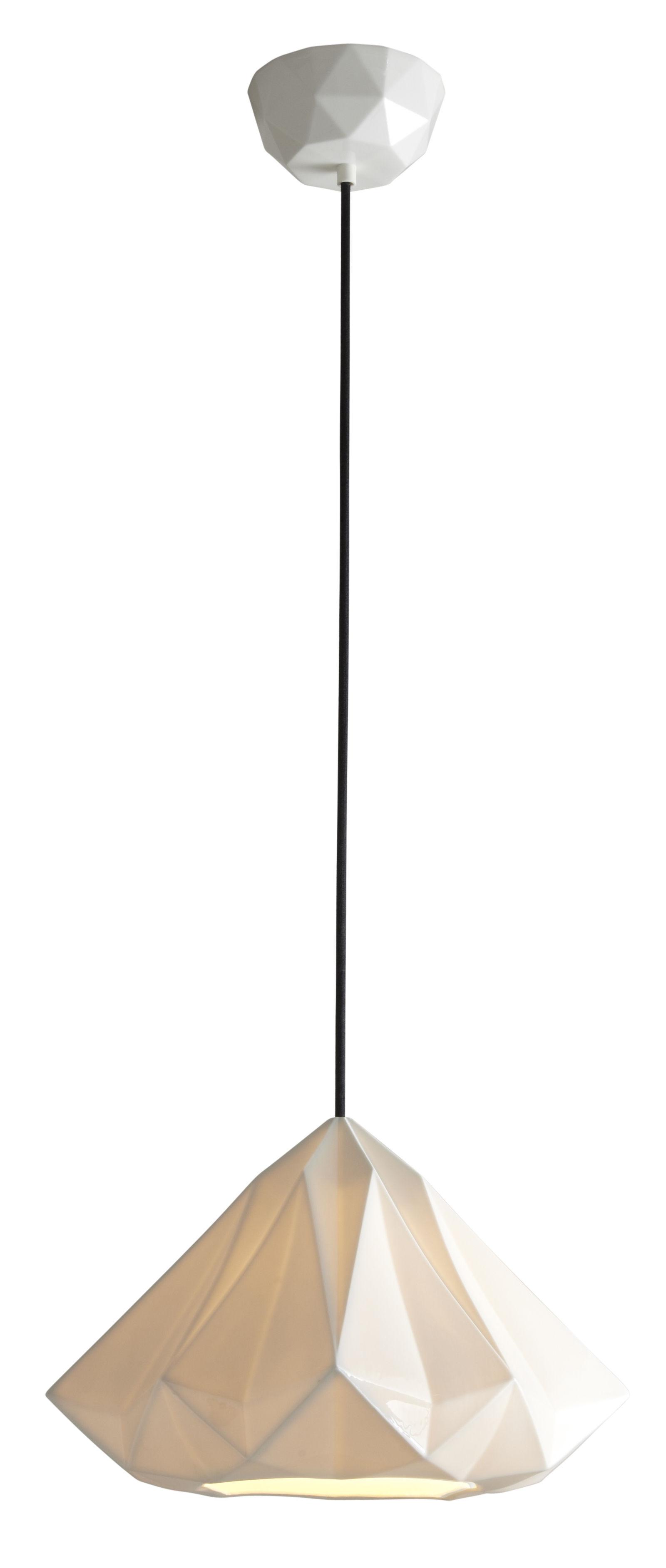 Luminaire - Suspensions - Suspension Hatton 2 / Ø 35 x H 23 cm - Porcelaine - Original BTC - Porcelaine blanche - Porcelaine