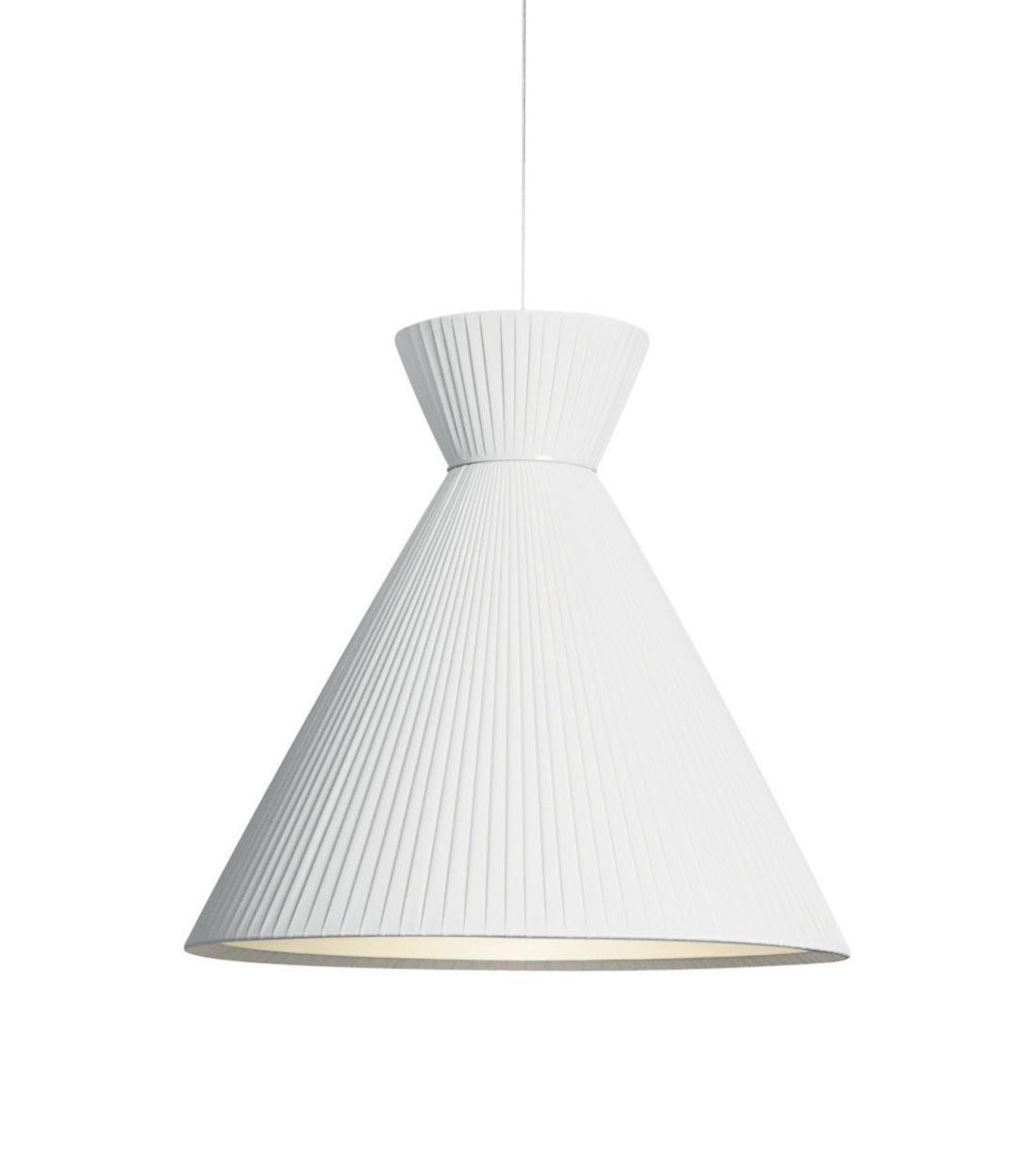 Luminaire - Suspensions - Suspension Mandarina / Tissu plissé - Ø 43 x H 43 cm - Carpyen - Blanc - Tissu polyester