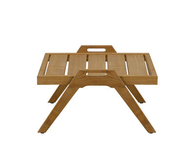 Mobilier - Tables basses - Table basse Synthesis / 55 x 57 cm - Teck - Unopiu - Teck - Teck