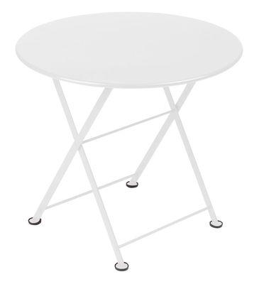 Table basse Tom Pouce / Ø 55 cm - Fermob blanc en métal