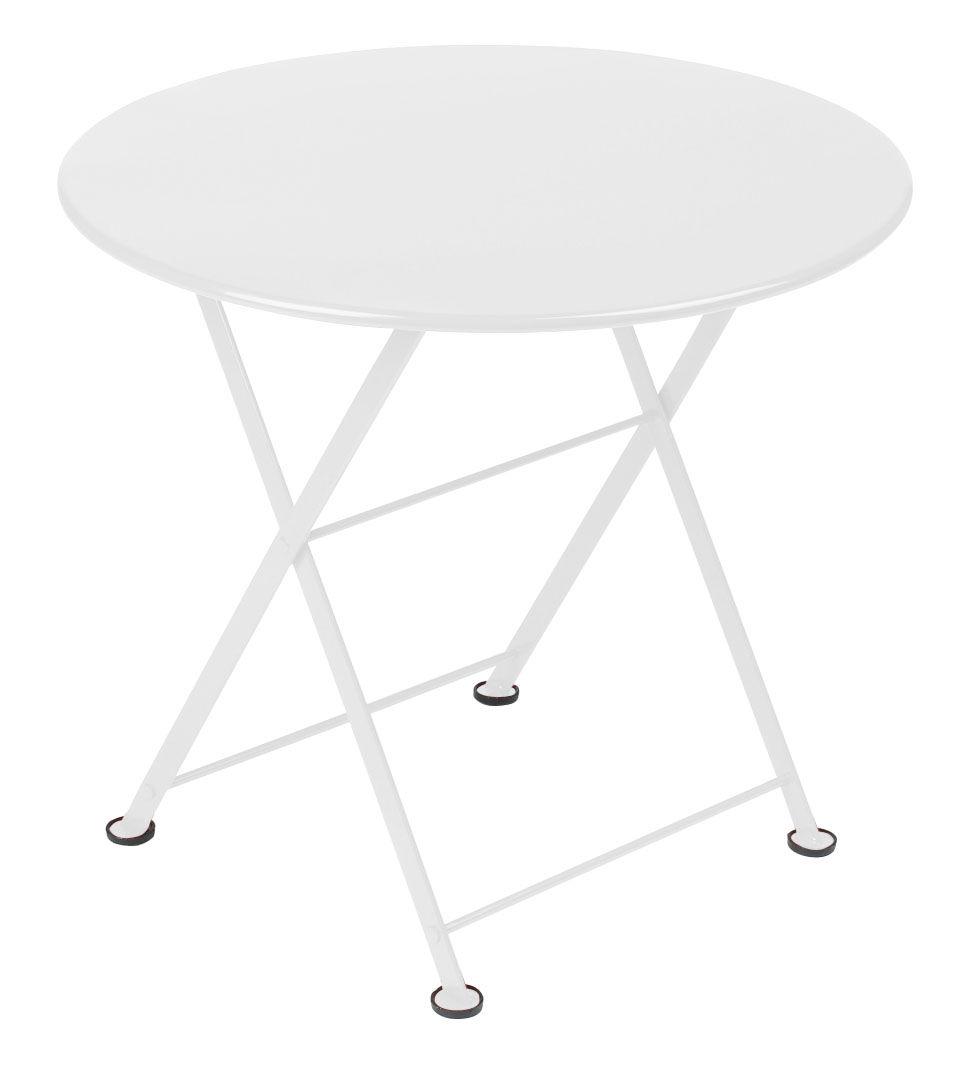 Mobilier - Tables basses - Table basse Tom Pouce / Ø 55 cm - Fermob - Blanc - Acier laqué