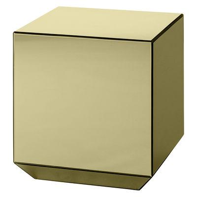 Mobilier - Tables basses - Table d'appoint Speculum / Miroir - 38 x 38 x H 40 cm - AYTM - Miroir doré - Verre