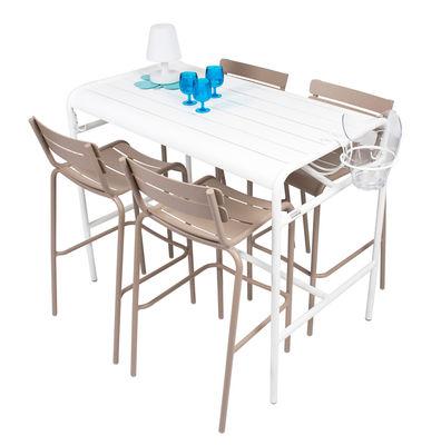 Table haute Luxembourg / 4 personnes - 126 x 73 cm - Aluminium - Fermob