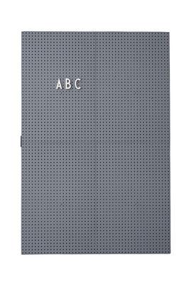 Tableau memo A3 / L 30 x H 42 cm - Design Letters gris foncé en matière plastique