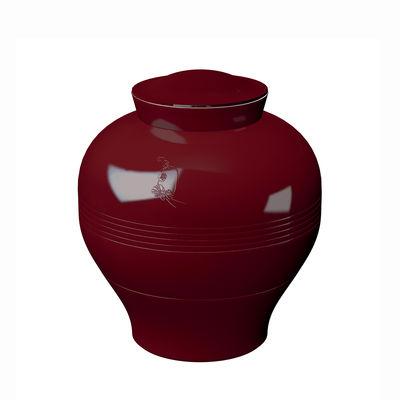Tischkultur - Teller - Yuan Eden Tafelservice / 8 stapelbare Teile - Ibride - Purpurrot/ Farbige Abbildungen (Eden) - Melamin