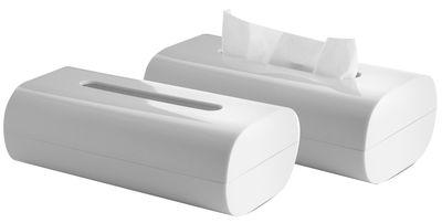 Decoration - For bathroom - Birillo Tissue box - / 24 x 13 cm by Alessi - White - PMMA