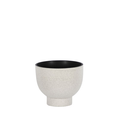 Decoration - Vases - Tenere Small Vase - / Ø 19 x H 16 cm - Ceramic by ENOstudio - Light grey - Ceramic