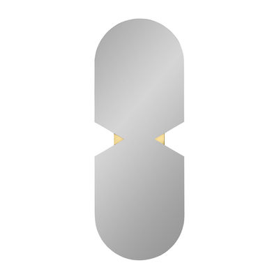 Decoration - Mirrors - Verto Wall mirror - / 120 x 44 cm by AYTM - Smoked grey - Copper, Glass, MDF
