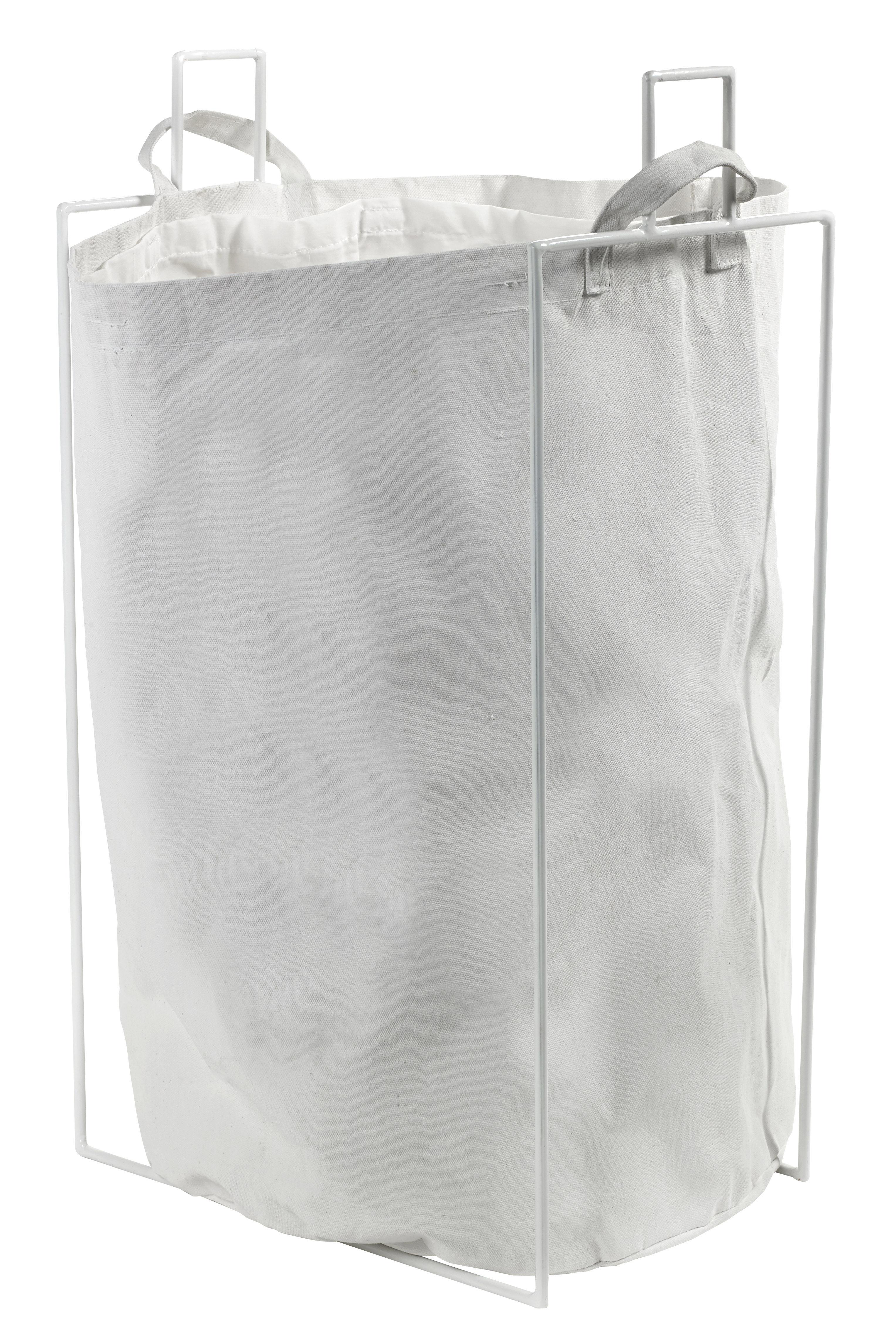 Accessoires - Accessoires für das Bad - Laundryholder Wäschekorb / abnehmbarer Wächesack - Serax - Weiß - Gewebe, Metall