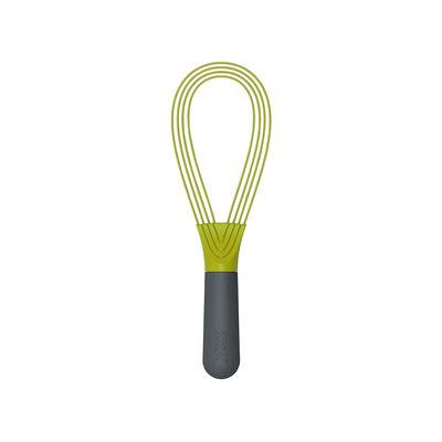 Kitchenware - Kitchen Equipment - Twist Whisk - / Silicon - 2-in-1: balloon whisk + flat whisk by Joseph Joseph - Green & dark grey - Silicone, Steel