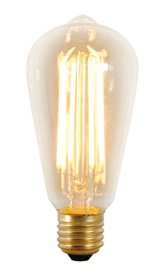 Ampoule LED filaments E27 Squirrel Cage / 3W (25W) - 240 lumen - Original BTC or,transparent en métal