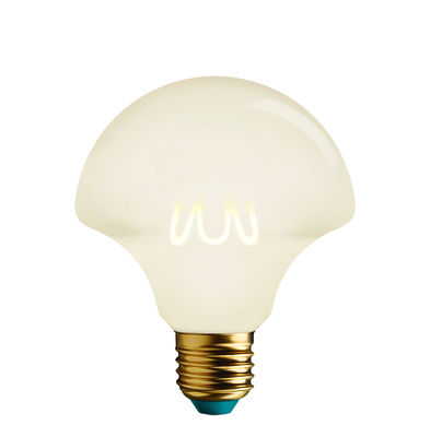 Luminaire - Ampoules et accessoires - Ampoule LED filaments E27 Willow Milky / Dimmable - 4,5W (21W) - 200lm - Plumen - Blanc - Aluminium, Verre