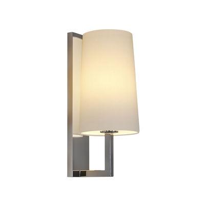 Illuminazione - Lampade da parete - Applique Riva - / Vetro - H 35 cm di Astro Lighting - Cromo / Bianco - Acciaio, Tessuto