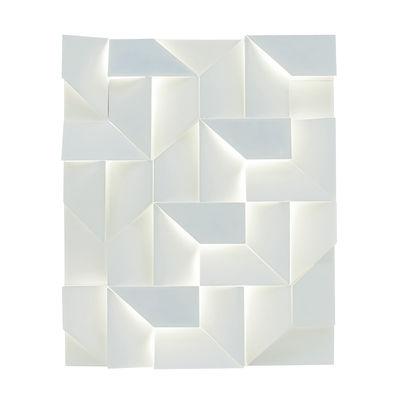 Illuminazione - Lampade da parete - Applique Shadows - LED / 90 x 120 cm - Metallo di Nemo - Blanc mat - Aluminium poudré mat