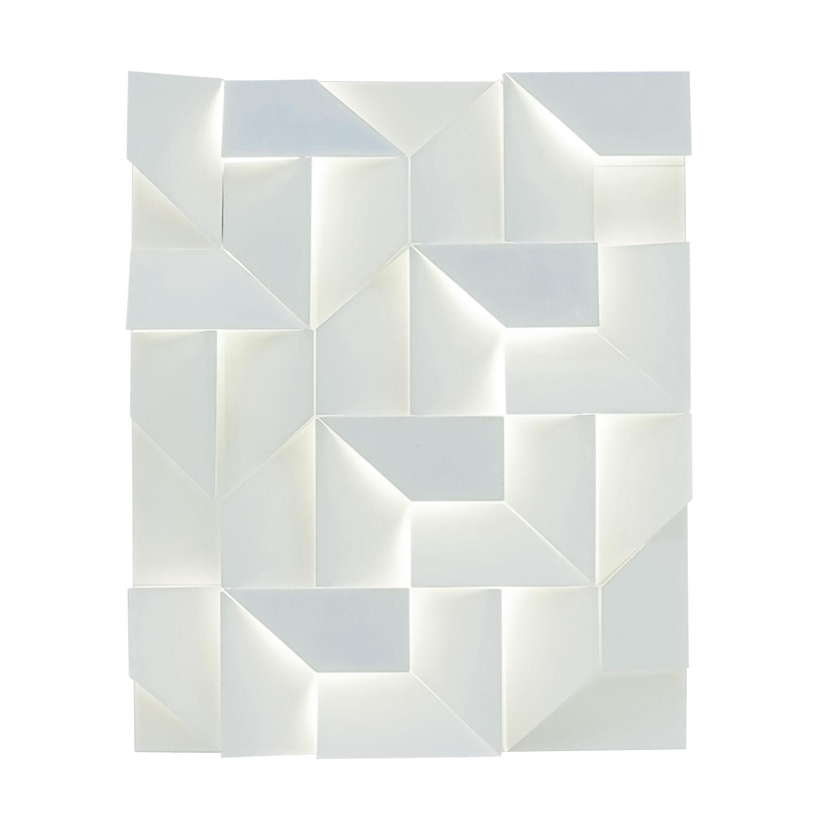 Illuminazione - Lampade da parete - Applique Shadows - LED / 90 x 120 cm - Metallo di Nemo - Blanc mat - Alluminio verniciato a polvere opaco