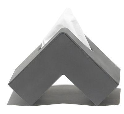 Déco - Salle de bains - Boîte à mouchoirs Folio - Pa Design - Anthracite - Plastique