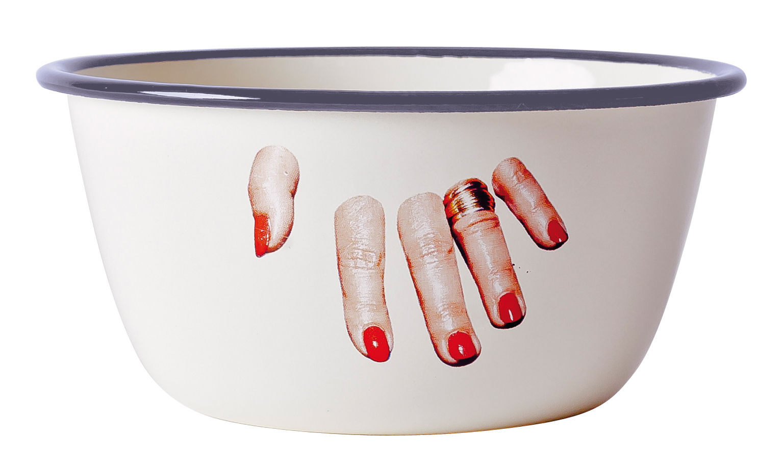 Arts de la table - Saladiers, coupes et bols - Bol Toiletpaper / Doigts coupés - Seletti - Doigts coupés - Métal émaillé