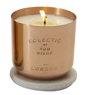 Déco - Bougeoirs, photophores - Bougie parfumée Scent London - Tom Dixon - London / Cuivre - Cuivre, Marbre