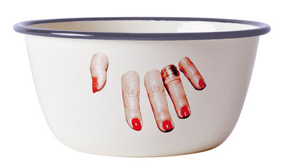 Tableware - Bowls - Toiletpaper Bowl - / Finger hand by Seletti - Finger hand - Enamelled metal