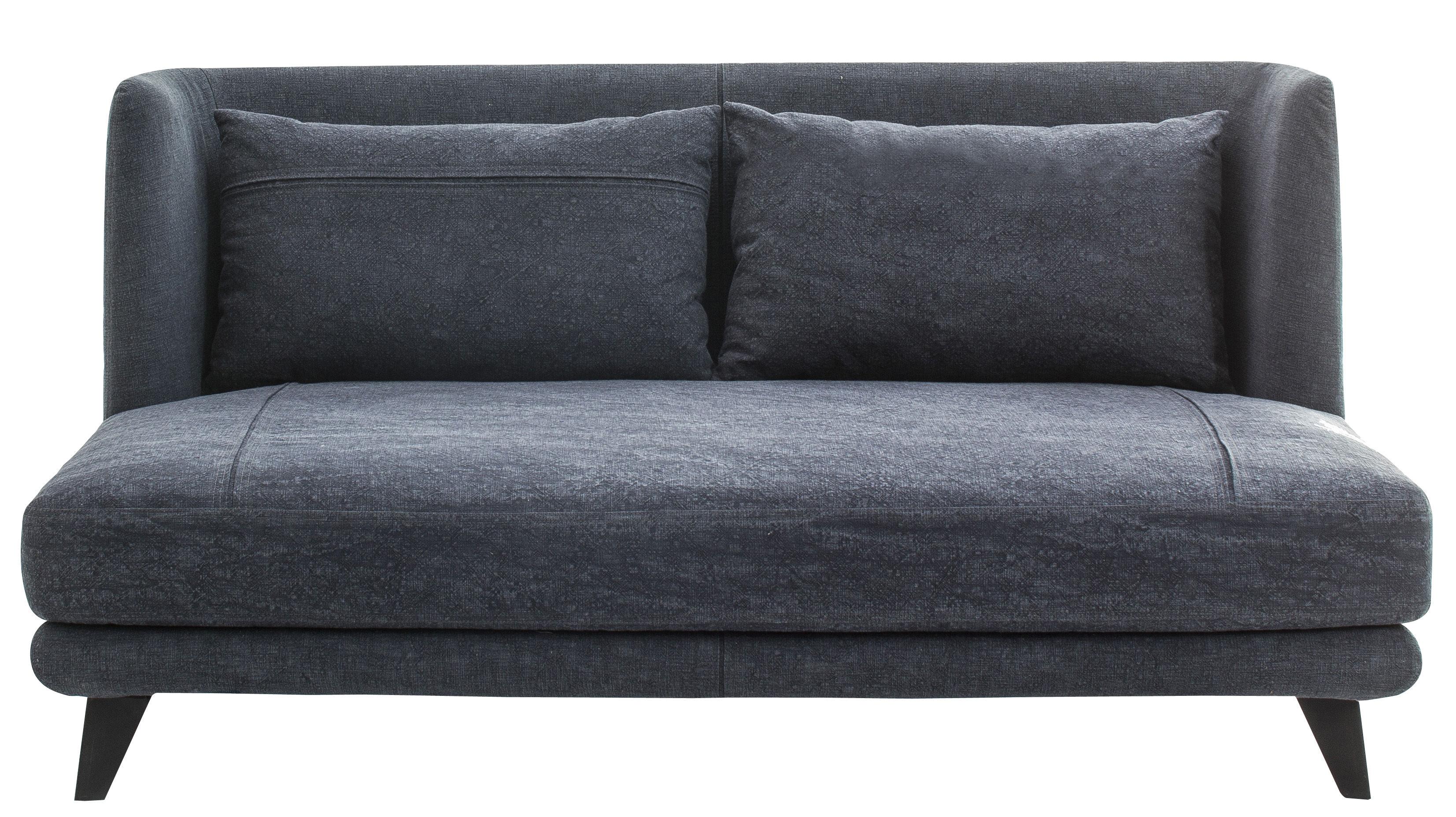 Mobilier - Canapés - Canapé droit Gimme More / L 160 cm - 2 places - Diesel with Moroso - Bleu jean foncé - Acier, Mousse, Tissu