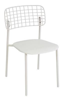 Chaise empilable Lyze / Métal - Emu blanc en métal