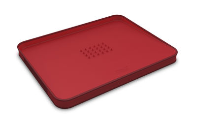 Kitchenware - Cool Kitchen Gadgets - Cut & Carve Chopping board - Large by Joseph Joseph - Red - Polypropylene