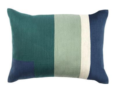 Interni - Cuscini  - Cuscino Boro - / 55 x 40 cm di Maison Sarah Lavoine - Blu Majorelle - Cotone, Espanso