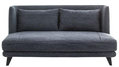 Arredamento - Divani moderni - Divano destro Gimme More - / L 160 cm - 2 posti di Diesel with Moroso - Blu jeana scuro - Acciaio, Espanso, Tessuto