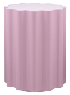 Möbel - Hocker - Colonna Hocker / H 46 cm x Ø 34,5 cm - von Ettore Sottsass - Kartell - Rosa - Polymer, thermoplastisch & eingefärbt
